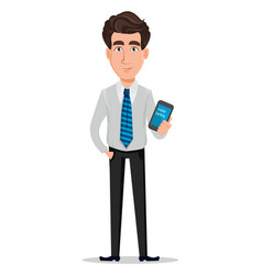 Business man in office style clothes vector