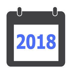 calendar 2018 icon on white background flat vector image