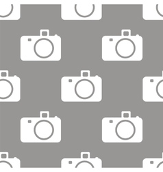 Camera seamless pattern vector image
