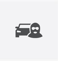 Car thief icon vector