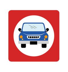 car waggon vehicle icon vector image