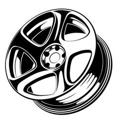 Car wheel rim vector