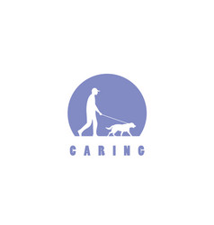 caring pets logo design vector image