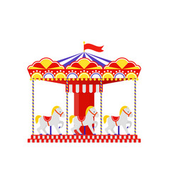 Carousel horse merry go round vector