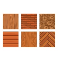 Cartoon wooden seamless textures vector image