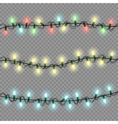 christmas lights luminous garland isolated vector image