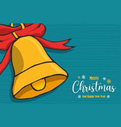 Christmas new year bell ornament cartoon card vector