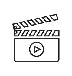 Clapboard linear icon vector
