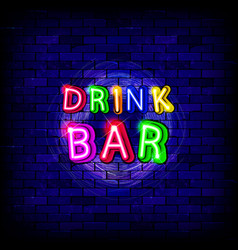 colorful neon lamps for bars vector image