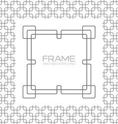 Decorative frame labels or badges on background vector image