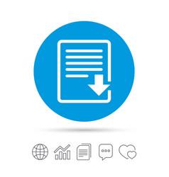 Download file icon file document symbol vector