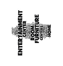 Entertainment center text background word cloud vector