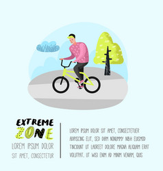extreme sports poster banner brochure teenager vector image