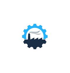 factory gear logo icon design vector image