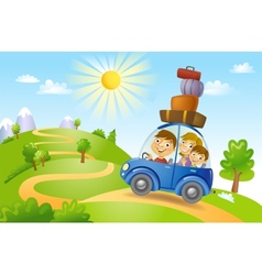 Family summer adventure vector image