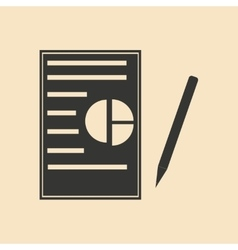 Flat in black white contract and pen vector