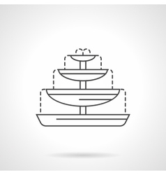 Fountain bowls flat line icon vector