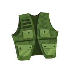 green vest of hunter and fisherman vector image