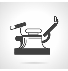 Gynecology chair black icon vector