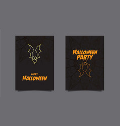 Halloween party set of three bright banners vect vector