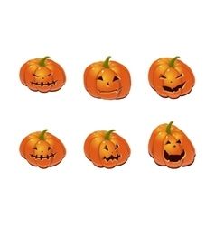 Halloween set with pumpkins vector