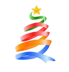 Happy Christmas tree vector