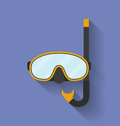Icon of diving mask Flat style vector image