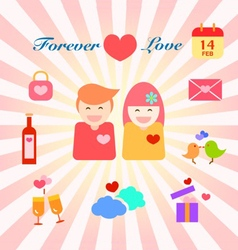 Infographic of couple in love vector