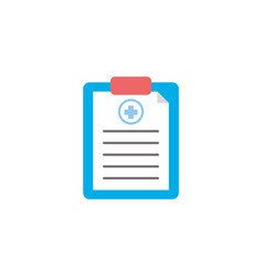 Isolated medical history icon flat design vector