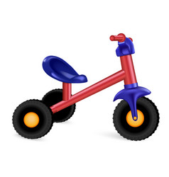 Kid tricycle icon realistic style vector