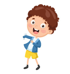 kid wearing clothes vector image