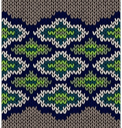 Knit Seamless Jacquard Ornament Texture Fabric vector image