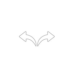Left and right arrows flat icon vector