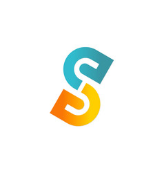 Letter s colored company logo vector