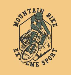 logo design mountain bike extreme sport vector image