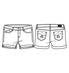 Middle length shorts vector
