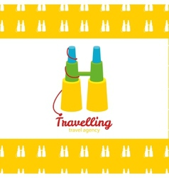 modern bright creative travel company binoculars vector image