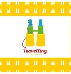 modern bright creative travel company binoculars vector image