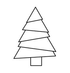 monochrome silhouette of christmas tree vector image