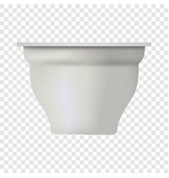 New yogurt box mockup realistic style vector