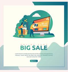 online shop big sale vector image
