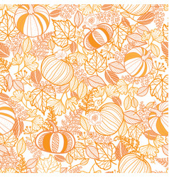 Orange ornate pumpkins seamless repeat vector
