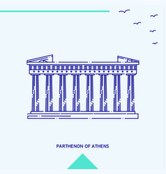 parthenon of athens skyline vector image