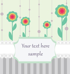 Pastel colored card vector image