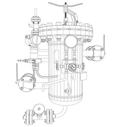 Picture of heat exchanger vector