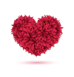 Red traditional heart made of leaves for Your vector image vector image
