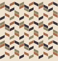 retro zig zag seamless pattern scandinavian vector image