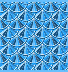 seamless pattern with circles of blue tones vector image