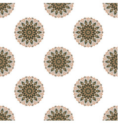 Seamless pattern with colored mandalas brazilian vector