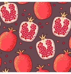 Seamless pomegranate vector image